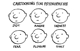 Psychopath cartoonic description